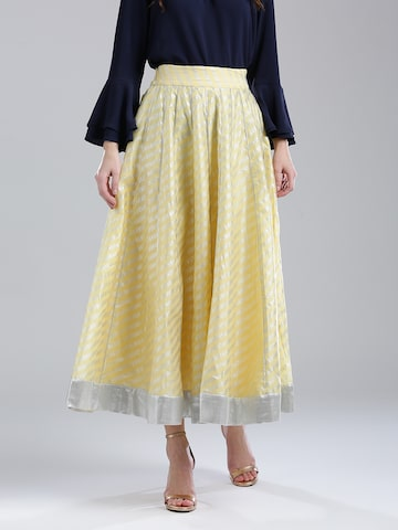 W Yellow Printed Flared Maxi Skirt W Skirts at myntra