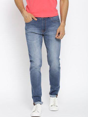 Blackberrys Men Blue Skinny Fit Low-Rise Clean Look Stretchable Jeans Blackberrys Jeans at myntra