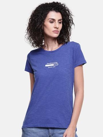 Lee Women Blue Printed T-shirt Lee Tshirts at myntra