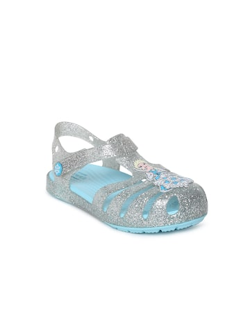 Crocs Girls Silver-Toned Fisherman Sandals Crocs Sandals at myntra