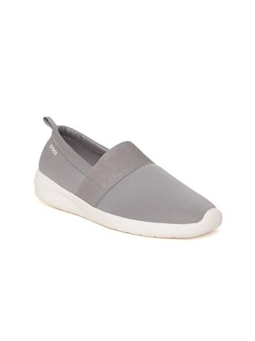 Crocs Literide Women Grey Slip-On Sneakers Crocs Casual Shoes at myntra