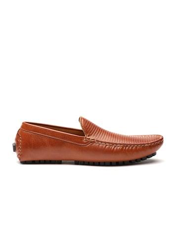 Carlton London Men Tan Brown Textured Driving Shoes Carlton London Casual Shoes at myntra