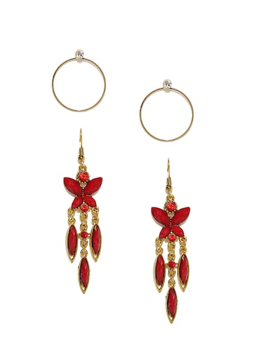 Ayesha Set of 2 Drop Earrings Ayesha Earrings at myntra