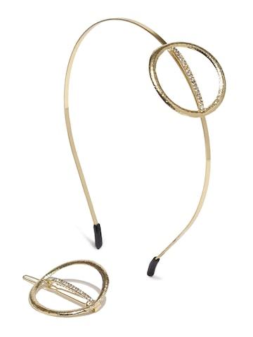 Ayesha Gold-Toned Set of 2 Hair Accessories Ayesha Hair Accessory at myntra