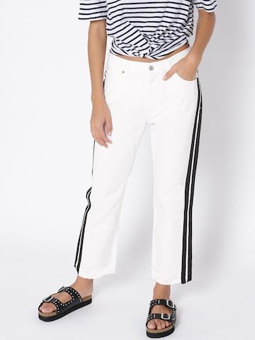 MANGO Women White Straight Fit Mid-Rise Clean Look Jeans MANGO Jeans at myntra
