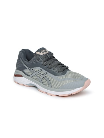 ASICS Women Grey GT-2000 6 Running Shoes ASICS Sports Shoes at myntra
