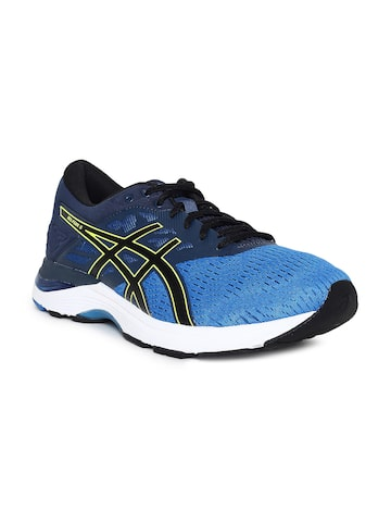 ASICS Men Navy Blue GEL-FLUX 5 Running Shoes ASICS Sports Shoes at myntra
