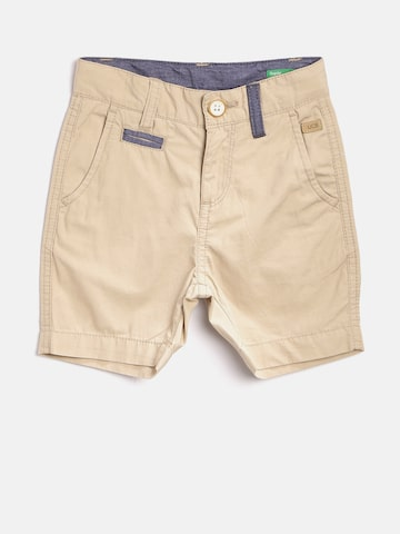 United Colors of Benetton Boys Beige Solid Chino Shorts United Colors of Benetton Shorts at myntra