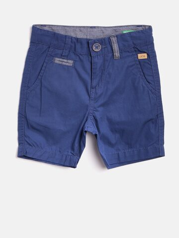 United Colors of Benetton Boys Blue Solid Chino Shorts United Colors of Benetton Shorts at myntra