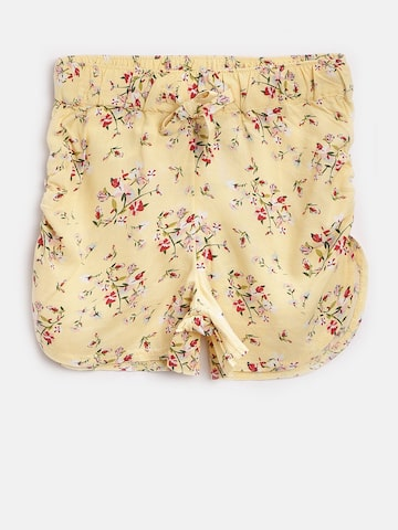 United Colors of Benetton Girls Yellow Printed Regular Fit Shorts United Colors of Benetton Shorts at myntra