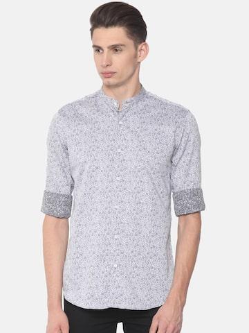 Raymond Men Grey Regular Fit Printed Casual Shirt Raymond Shirts at myntra