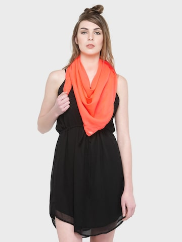 J Style Orange Solid Scarf J Style Scarves at myntra