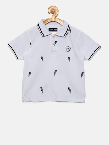 SCULLERS Boys White Printed Polo Collar T-shirt SCULLERS Tshirts at myntra