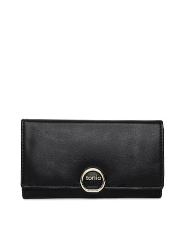 ToniQ Women Black Solid Two Fold Wallet ToniQ Wallets at myntra