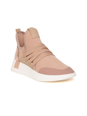 Steve Madden Women Peach-Coloured Sneakers Steve Madden Casual Shoes at myntra