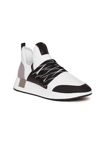 Steve Madden Women White & Black Sneakers Steve Madden Casual Shoes at myntra