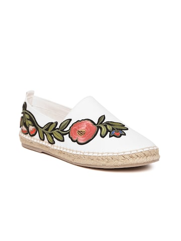Steve Madden Women White Applique Sneakers Steve Madden Casual Shoes at myntra