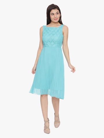 Avirate Women Turquoise Blue Printed Fit & Flare Dress Avirate Dresses at myntra