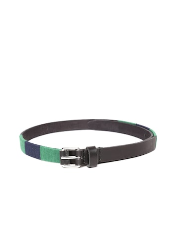 United Colors of Benetton Women Black Solid Leather Belt United Colors of Benetton Belts at myntra