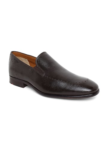 Tresmode Men Coffee Brown Leather Semiformal Slip-Ons Ruosh Formal Shoes at myntra