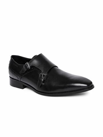 Ruosh Men Black Monk Shoes Ruosh Formal Shoes at myntra