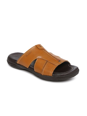 Ruosh Men Tan Comfort Sandals Ruosh Sandals at myntra