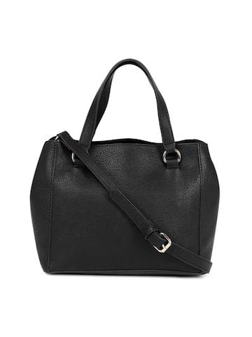 Steve Madden Black Solid Handheld Bag Steve Madden Handbags at myntra
