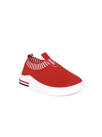 Kittens Boys Red Woven Design Slip-On Sneakers Kittens Casual Shoes at myntra