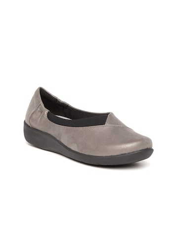 Clarks Women Taupe Slip-Ons Clarks Casual Shoes at myntra