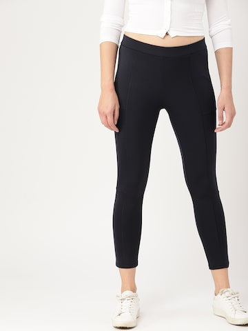 DressBerry Navy Treggings DressBerry Jeggings at myntra