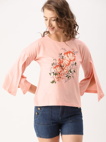 DressBerry Women Pink Printed Top DressBerry Tops at myntra