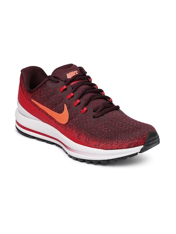 Nike Men Coral Red Air Zoom Vomero 13 Running Shoes Nike Sports Shoes at myntra