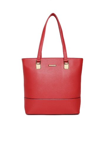 David Jones Red Textured Shoulder Bag David Jones Handbags at myntra