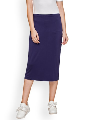 Globus Women Navy Blue Long Skirt Globus Skirts at myntra