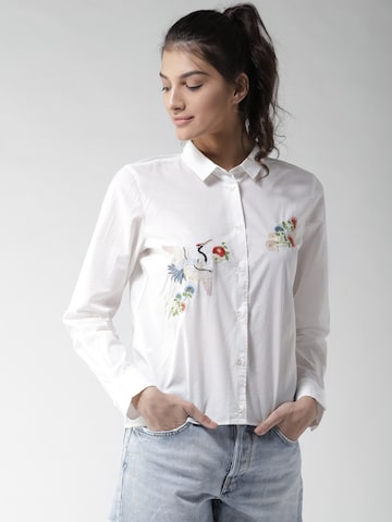 Levis Women White Solid Casual Shirt Levis Shirts at myntra