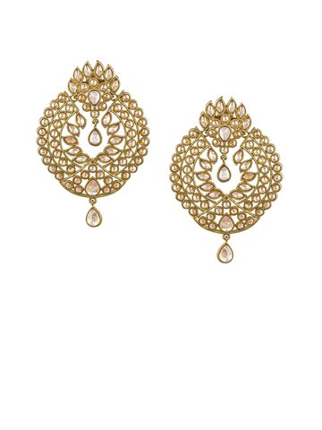 Sia Art Jewellery Gold-Toned Teardrop Shaped Drop Earrings Sia Art Jewellery Earrings at myntra