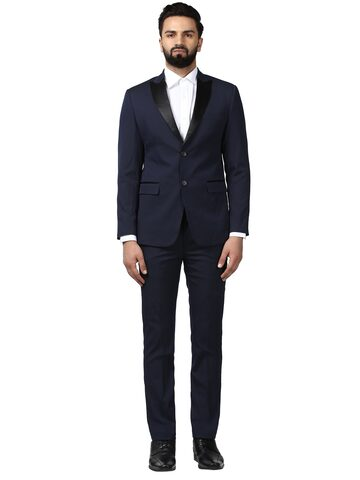 Raymond Men Navy Blue Single-Breasted Suit Raymond Suits at myntra