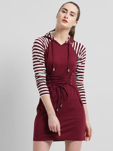 Texco Women Maroon Striped A-Line Dress Texco Dresses at myntra