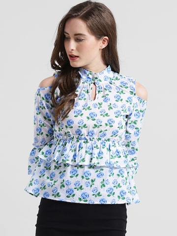 Texco Women Blue Printed Top Texco Tops at myntra