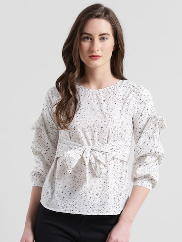 Texco Women Off-White Printed Top Texco Tops at myntra