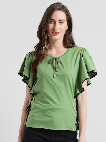 Texco Women Green Solid Top Texco Tops at myntra