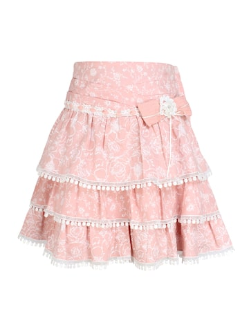 CUTECUMBER Girls Peach Floral Print Skirt CUTECUMBER Skirts at myntra