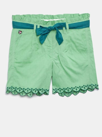 U.S. Polo Assn. Kids Girls Green Solid Slim Fit Regular Shorts U.S. Polo Assn. Kids Shorts at myntra