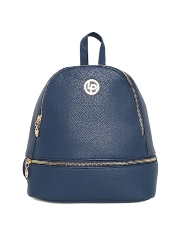 Lisa Hayden for Lino Perros Women Blue Solid Backpack Lino Perros Backpacks at myntra