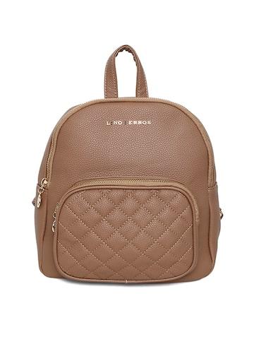 Lisa Haydon for Lino Perros Women Brown Solid Backpack Lino Perros Backpacks at myntra