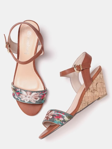 DressBerry Women Multicoloured Woven Design Wedges DressBerry Heels at myntra