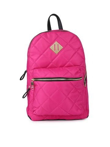 Steve Madden Women Pink Solid Backpack Steve Madden Backpacks at myntra