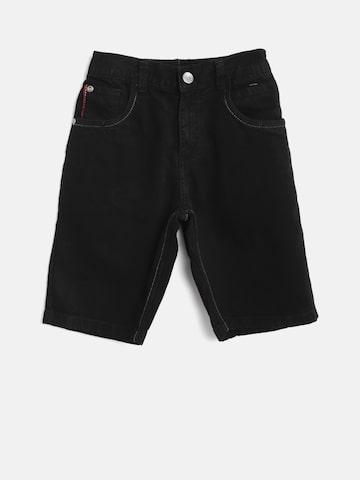 Palm Tree Boys Black Solid Regular Fit Denim Shorts Palm Tree Shorts at myntra