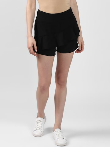 Nun Women Black Solid Slim Fit Hot Pants Nun Shorts at myntra