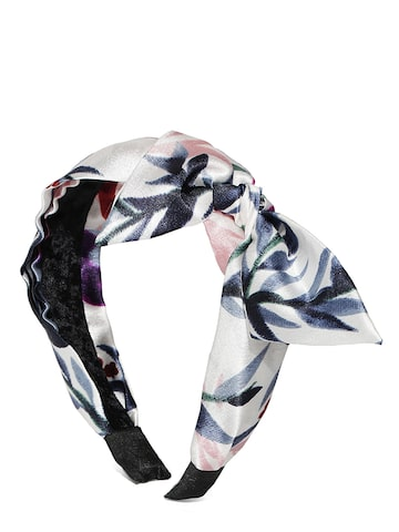 Blueberry Off-White Printed Hairband Blueberry Hair Accessory at myntra